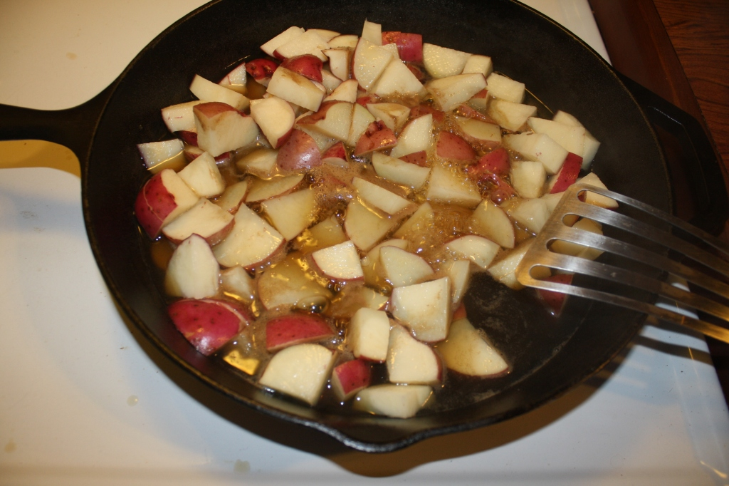 Simmer the potatoes
