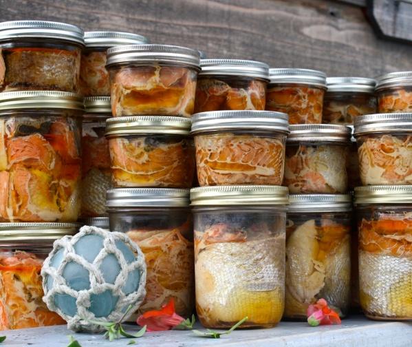 Jars of Salmon