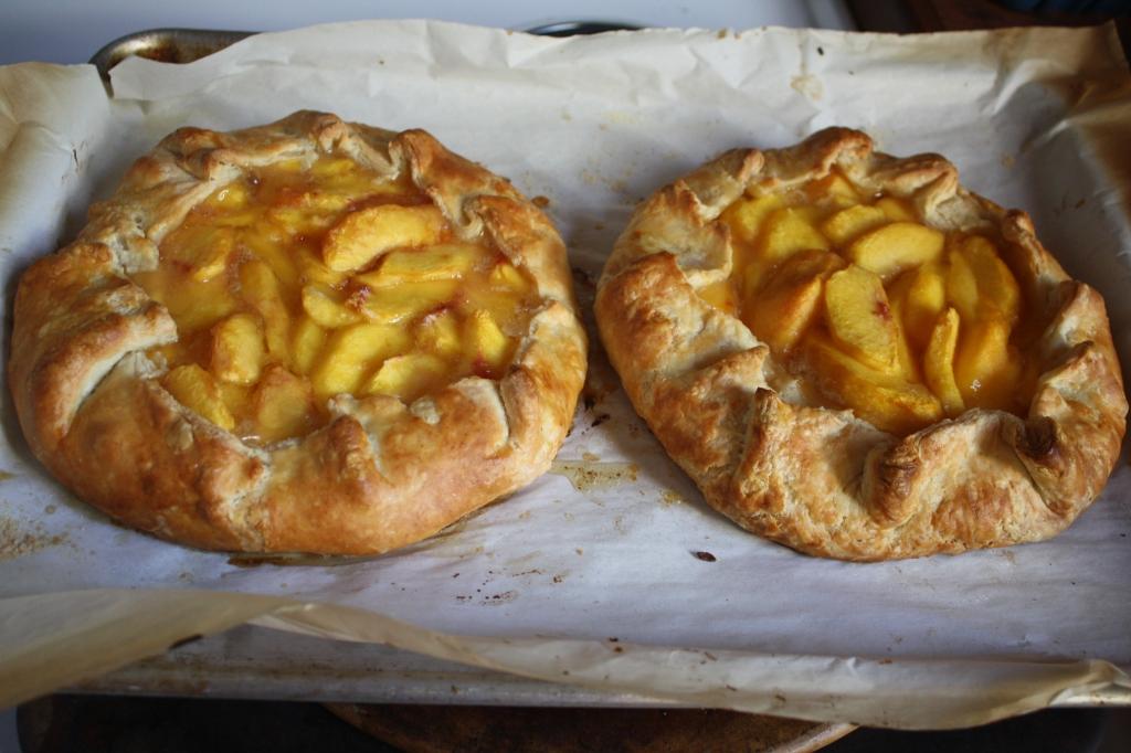 fresh peach ricotta galettes