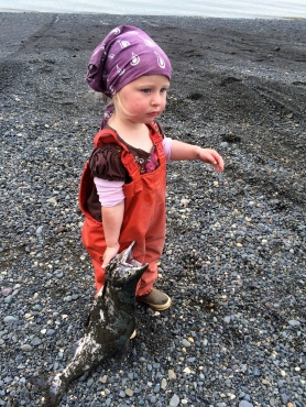 Bea picking Pinks
