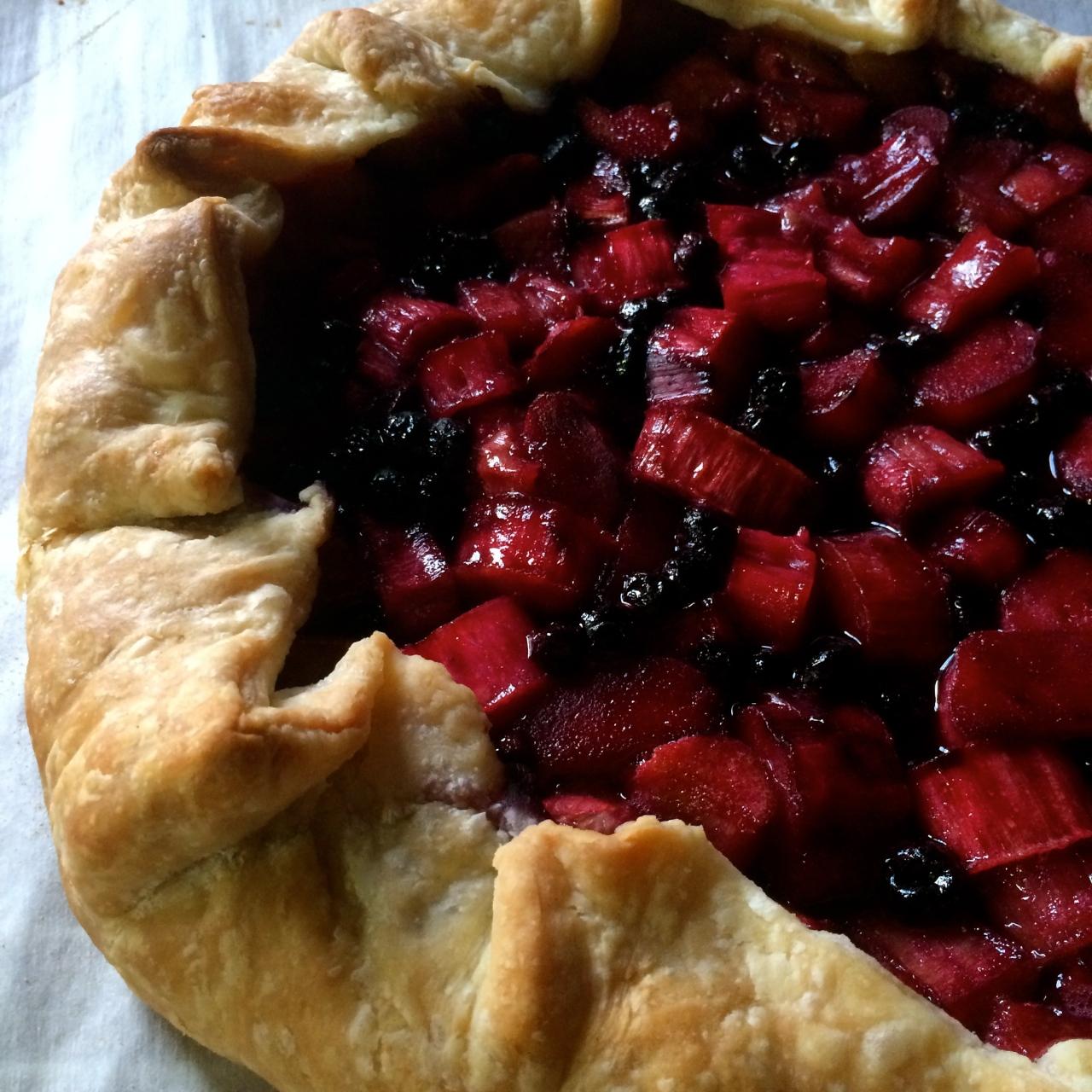 Rhubarb Blueberry Galette