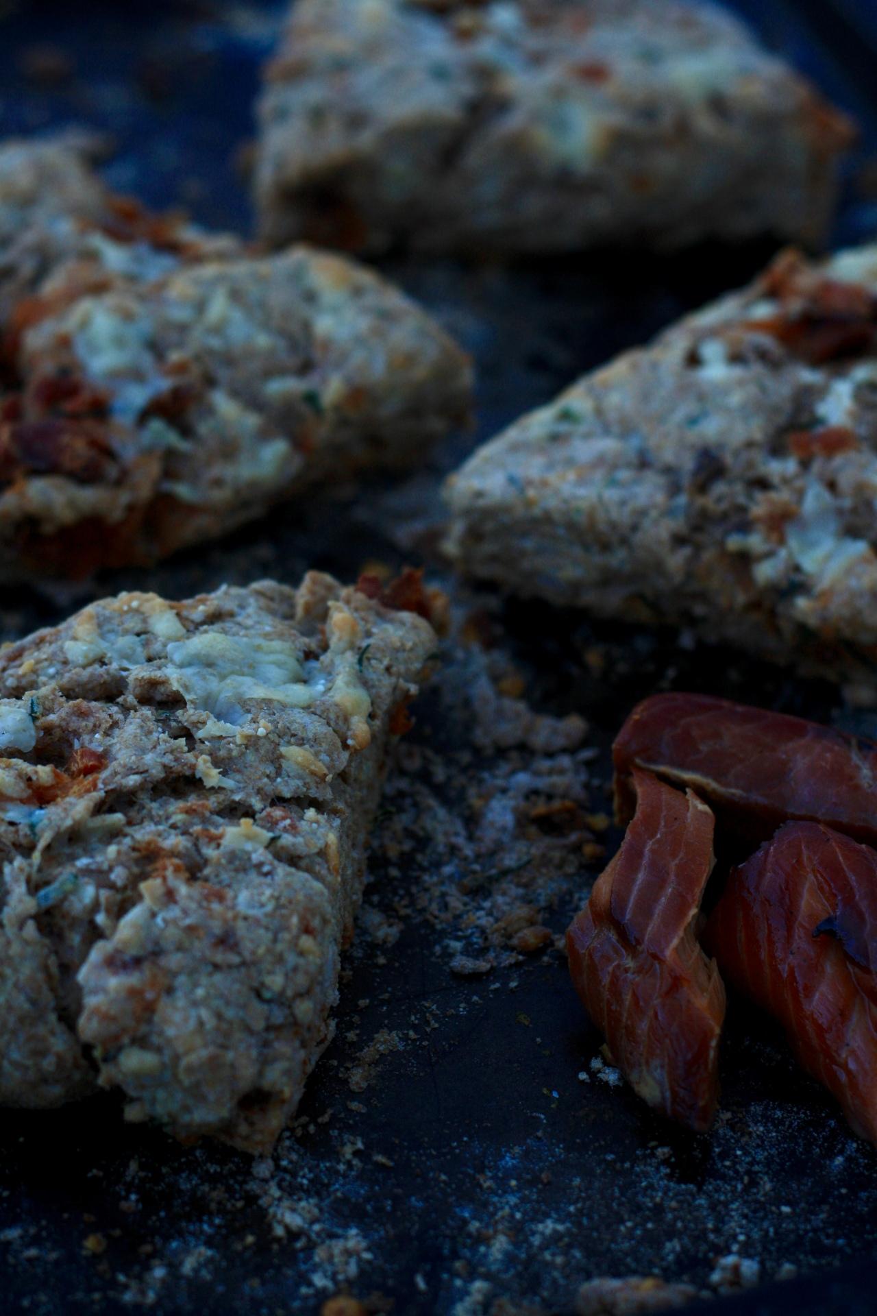 Whole Wheat & Smoked Salmon Scones