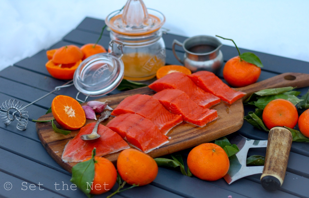 Citrus Maple Salmon Landscape