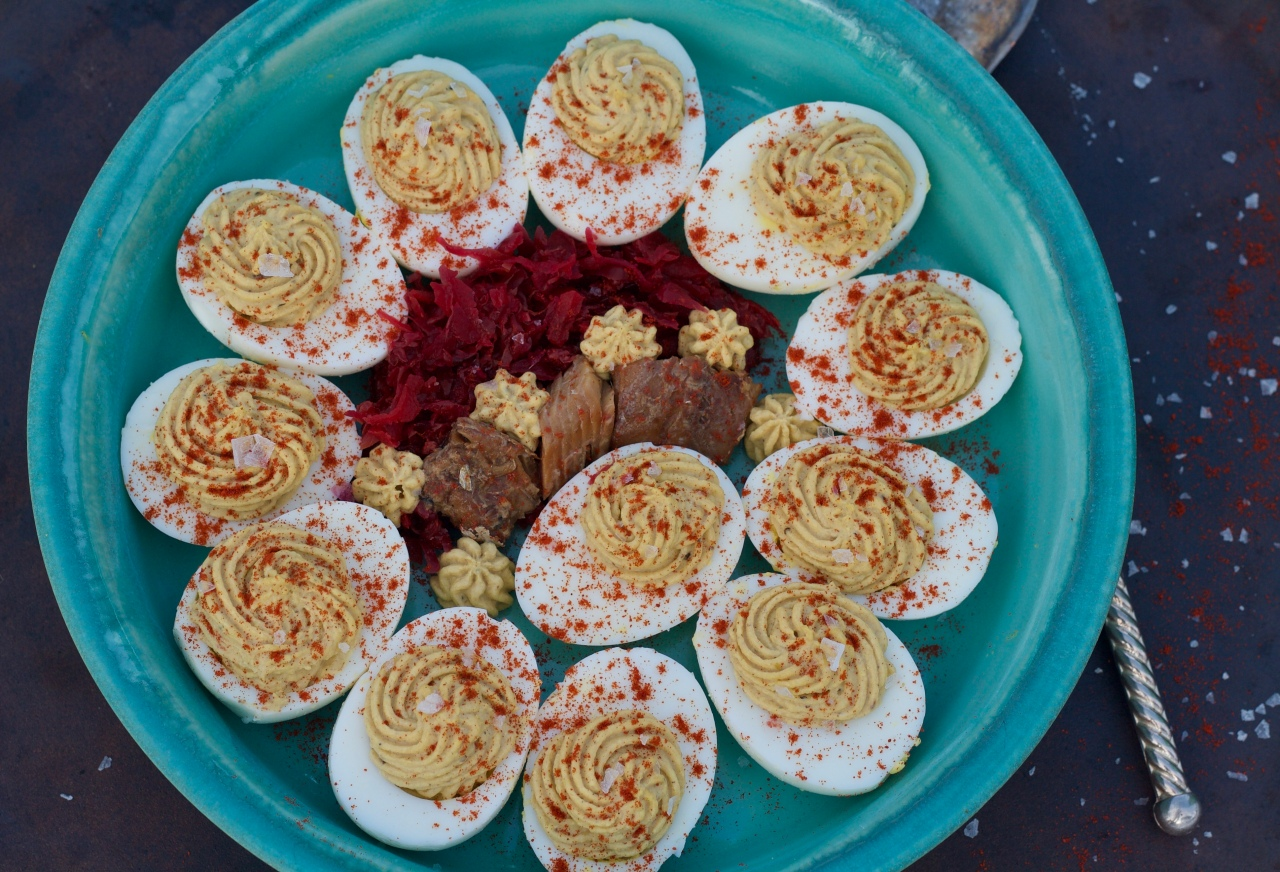 Smoked Herring Deviled Eggs