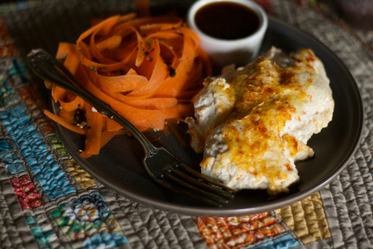 Parmesan Cream Halibut